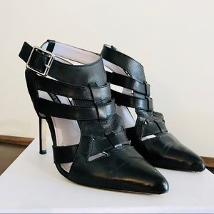 Shoemint Black Leather Heels